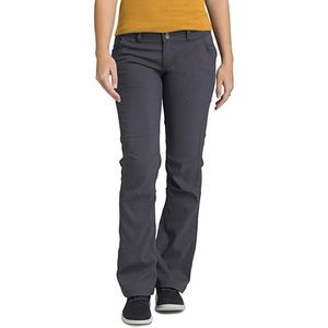 Prana Halle Pant Mid Rise Roll Up Cargo Coal 4